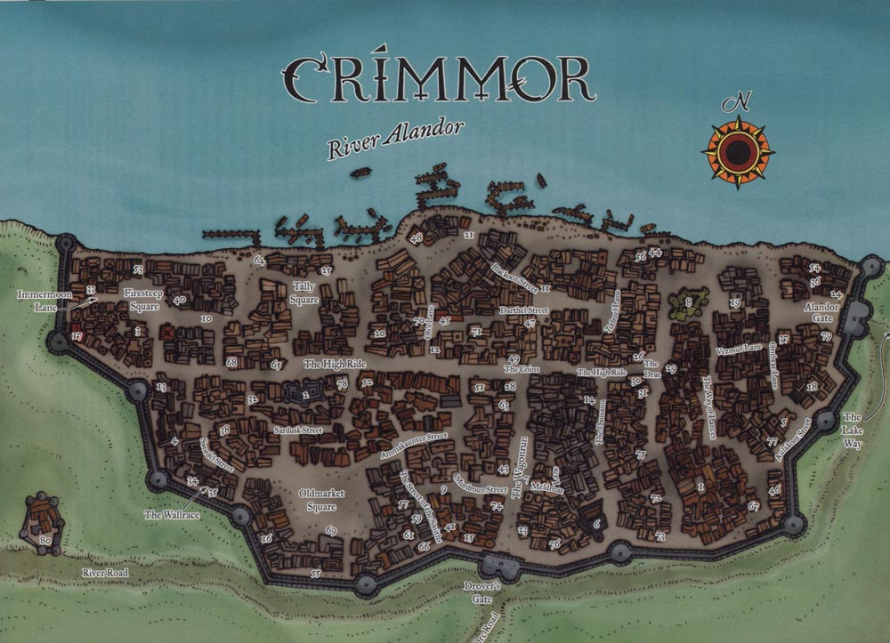 Crimmor, City of Caravans - Map