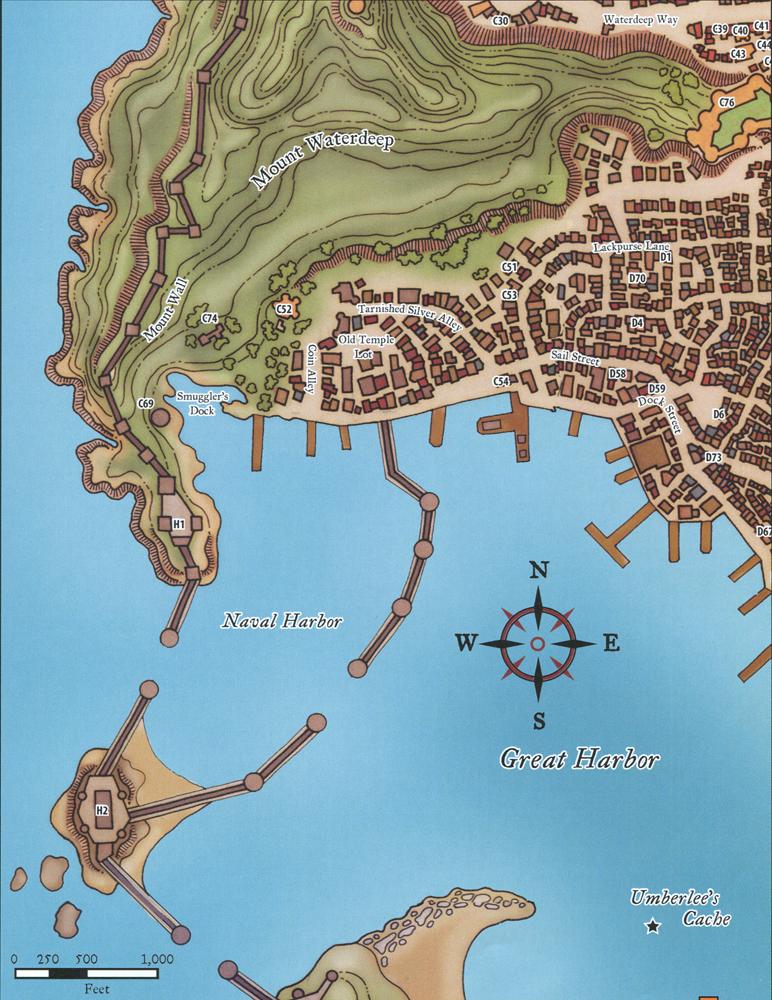 waterdeep locales castle ward