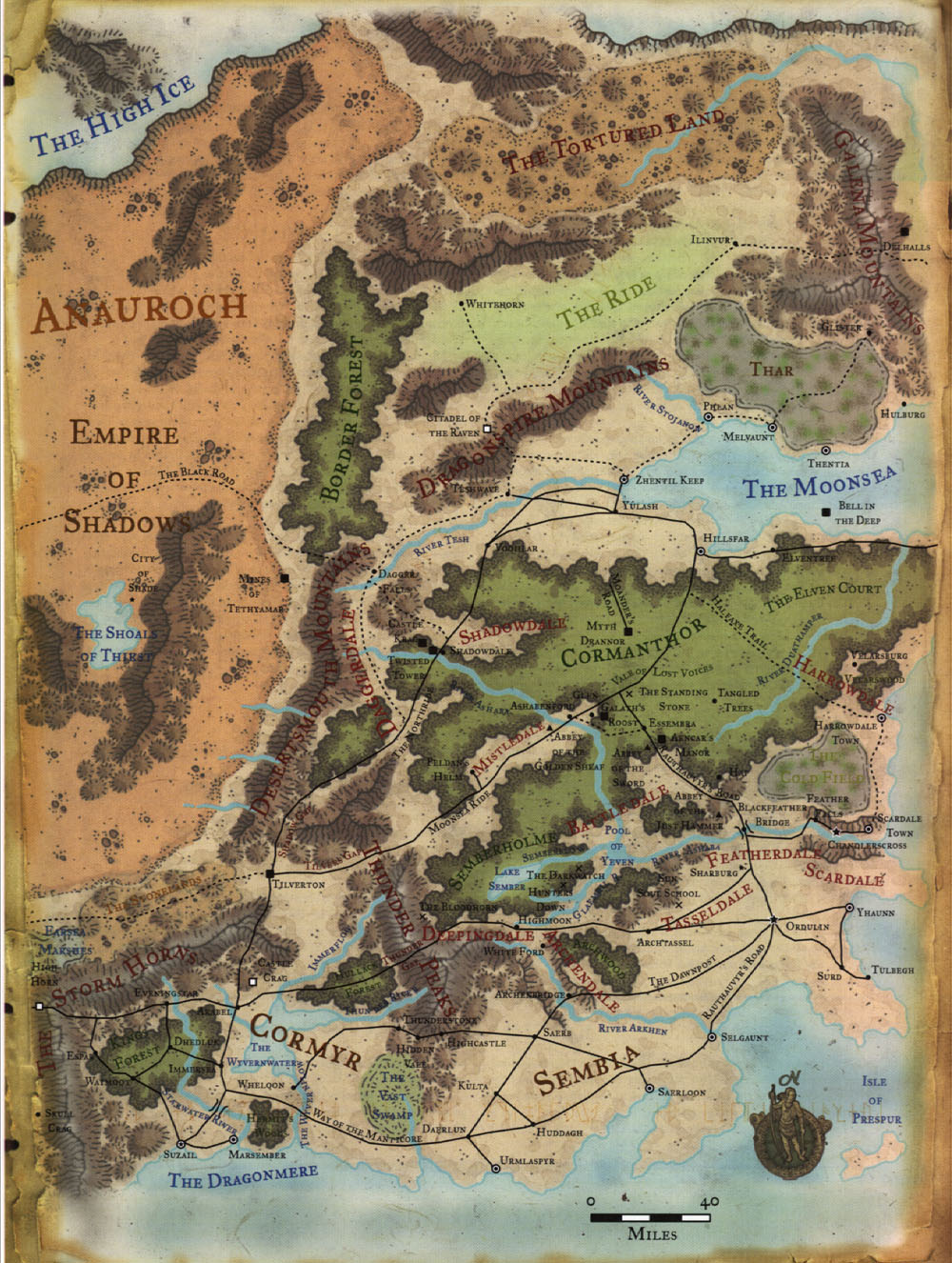 Realms Helps: The Dalelands - Map