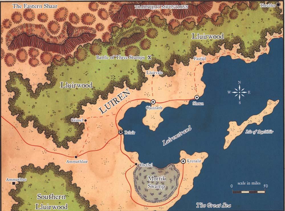 Map of Luiren Luiren