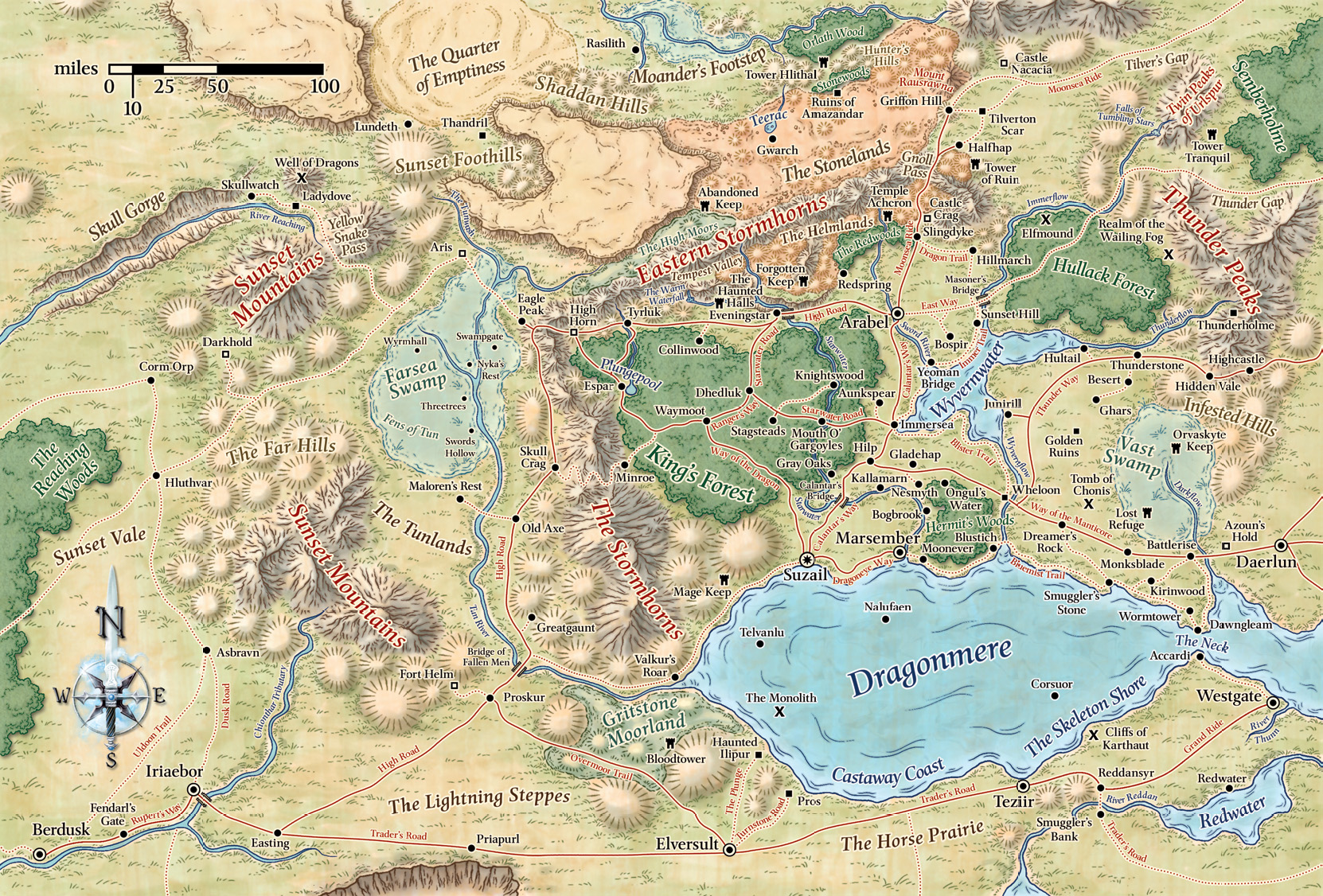 Map of Cormyr | Forgotten Realms Cormyr