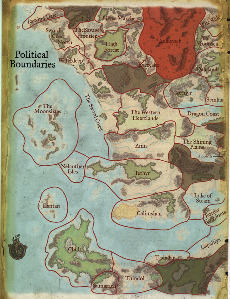 Political Map of Faerûn   West