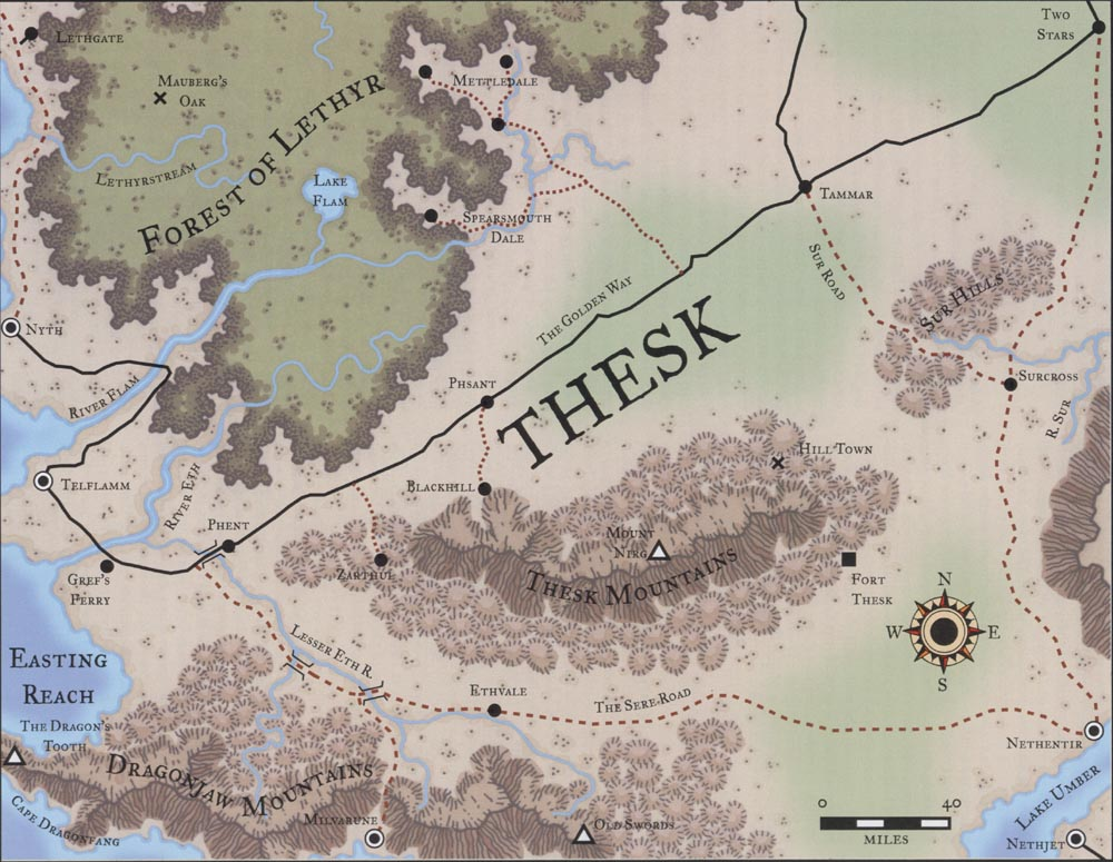 Map of Thesk Thesk